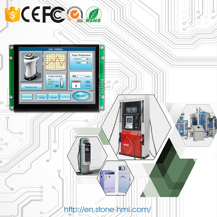 5 inch embedded HMI touch screen with RS232 RS485 TTL MCU port - 3
