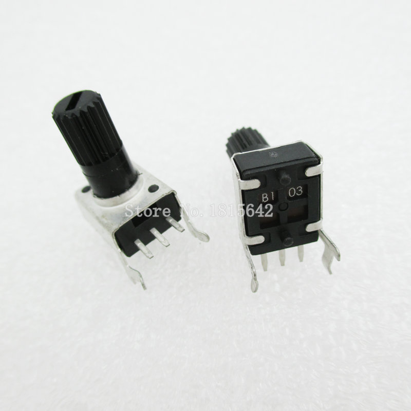 5PCS/LOT RV09 WH09 B10K B103 Potentiometer Adjustable Resistance 12.5mm Shaft 3 Pins 0932 Horizontal Adjustable Trim Pot