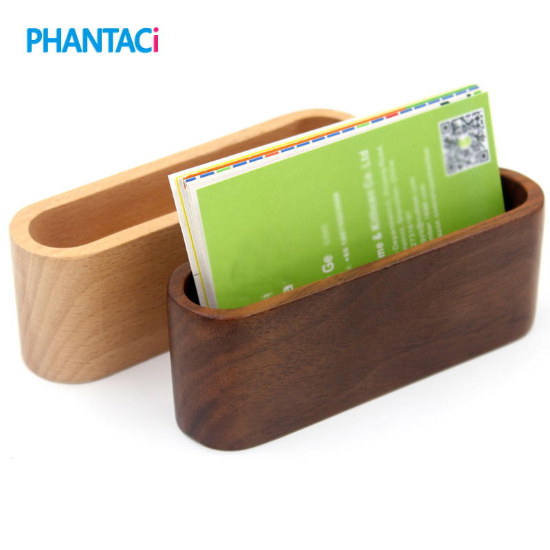 Office & School Supplies Card Holder & Note Holder Purposeful New Vintage Style Office Solid Wood Name Card Holder Creative Wooden Business Card Case Note Pad Seat Gift Supplies
