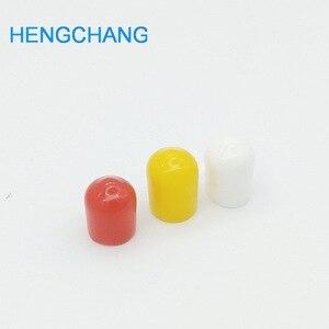 Image 2 - 3 kleuren 8mm Rubber cover Rubber Covers Stofkap voor RCA socket connector metalen buizen 99 stks/partij
