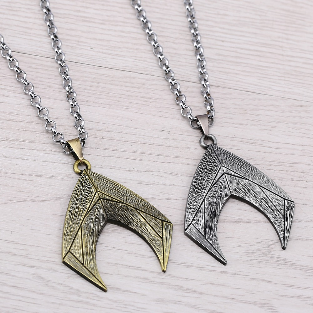 J Store Justice League Aquaman Necklace Women Cosplay Jewelry 2 Colors Superhero Alloy Long Necklaces Pendants colar feminino ...