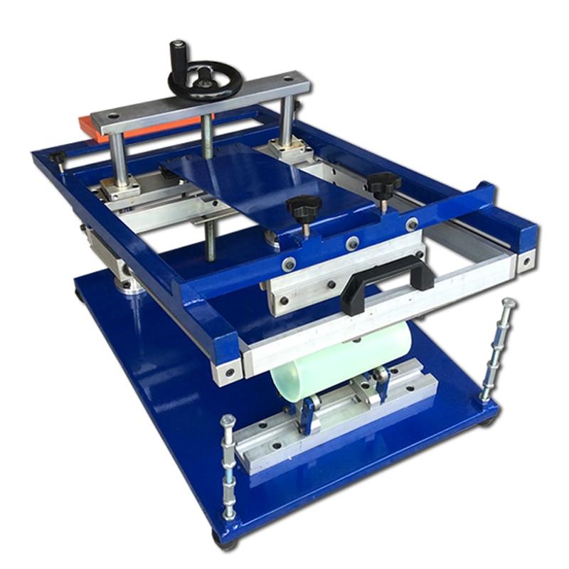bottles/cups/mugs/tubes/pens manual curve screen printer machine