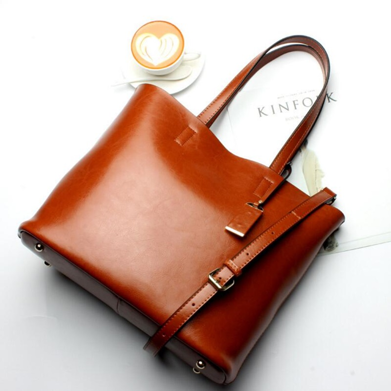 Brand genuine leather handbag for women real leather large shoulder bag female pattern hobos bag female tote bags high quality brand design genuine real leather shoulder bag large size hot sale plaid pattern chain bag fashion women handbag freeshipping