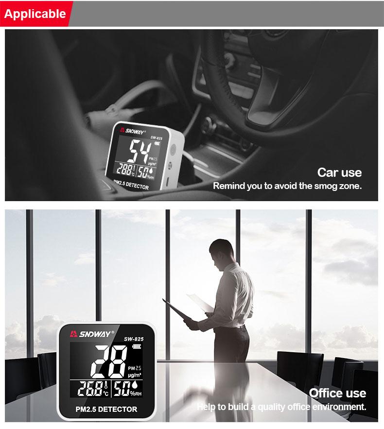 Medidor de Calidad del Aire PM2.5 SW-825
