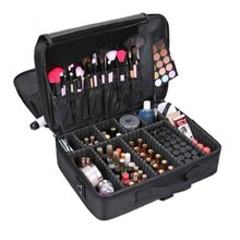 HHYUKIMI Brand Suitcases Multi-storey Large Professional Cosmetic Case Nail Pattern Semi-permanent Tool Box Storage Makeup Bag