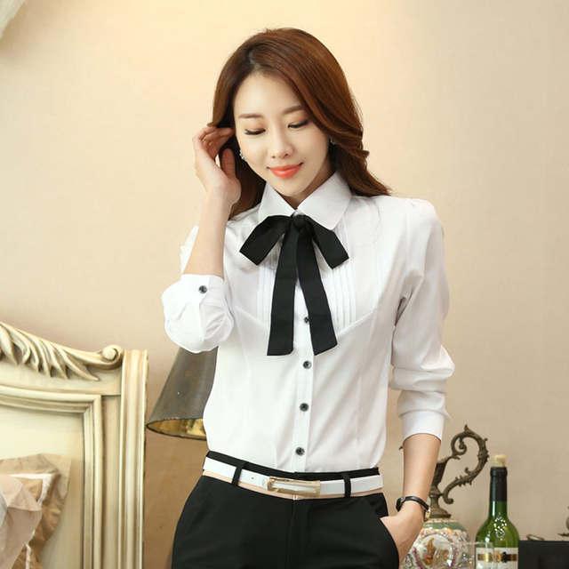 2c9973971615 placeholder Manga longa gravata borboleta outono nova camisa do desgaste  camisa branca tamanho grande terno trabalho profissional