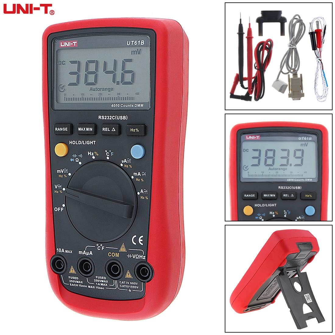 UNI-T Vente UT61B 3999 Chefs Écran lcd Précision Numérique Multimètre avec RS232C/USB Interface Standard Ligne et Rétro-Éclairage