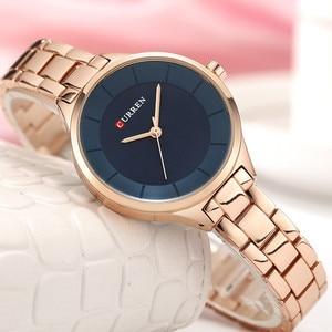 Image 3 - 2019 Curren Women Watches Luxury Gold Black Full Steel Dress Jewelry Quartz Watch Ladies Fashion Elegant Clock Relogio Feminino