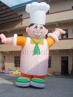 Encantadores personagens do cozinheiro chefe inflável balão gigante inflável para a promoção