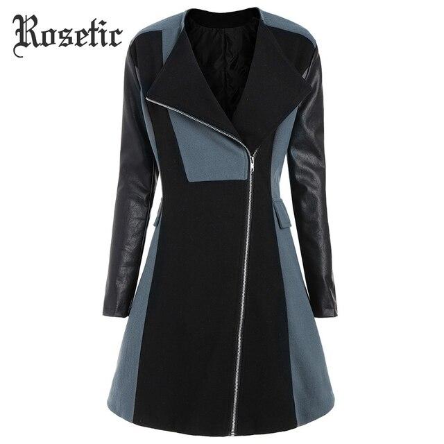 Rosetic Plus Size 5xl Warm Coat Patchwork Cotton Gray jacket Coat Gothic Women Coat Elegant khaki 4XL Winter Long Overcoat