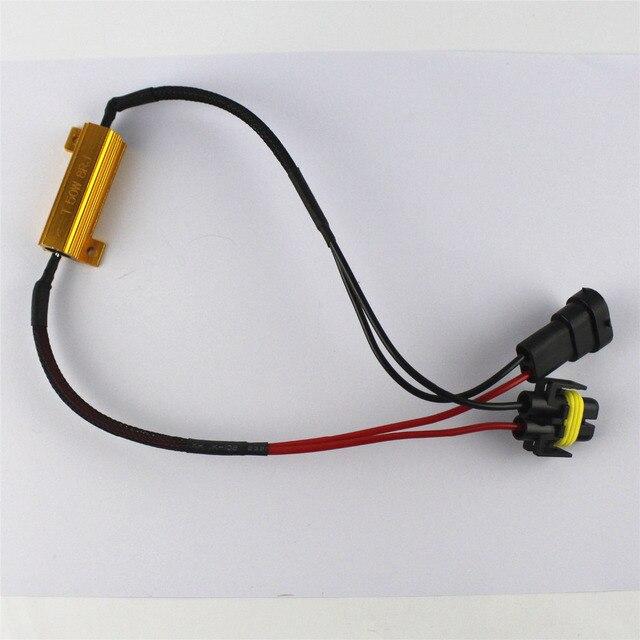 2x h11 h8 led light fog xenon hid no error load resistor wiring rh aliexpress com LED Load Resistor Kit Wiring Diagram of an LED Bulb