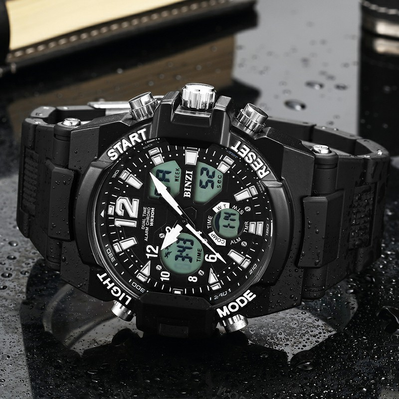 цена Clearance Sport Watch Men Student Mens Watches LED Digital Electronic Clock Waterproof Shockproof Military xfcs Cheap Discount