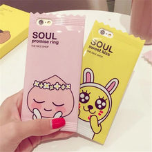 Cute Muzi Apeach Case For Apple iPhone 6 6s 7 8 plus 3D Candy Korean Cartoon Phone Cases Cover for iPhone 6 Silicone Case C95(United States)