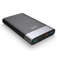 20000 mAh Harici Pil QC3.0 Çift USB Çıkışı ve Tip-C Çıkış Gücü bankası iphone X 8 8 Artı ve Diğer Telefon veya Tablet