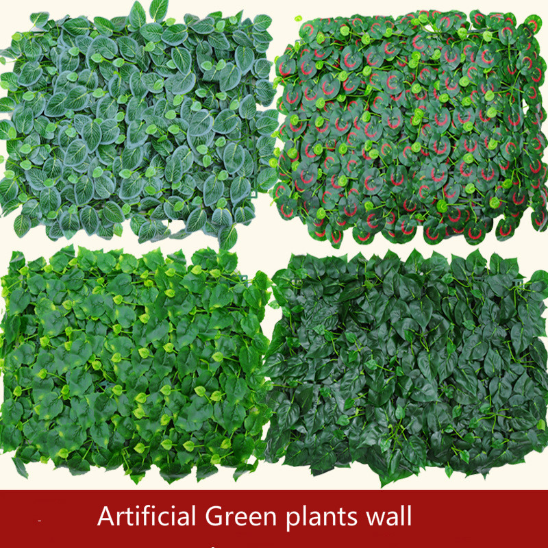 artificial green plants wall plastic fake lawn stage backdrop