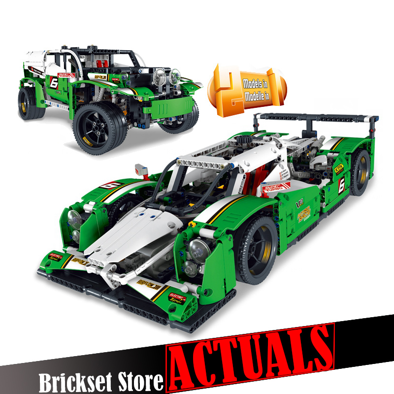 LELE 38017 24 Hours Race Car Technic Model Building Blocks Bricks Toys DIY For children Model Compatible with legoINGly 42039 608pcs race truck car 2 in 1 transformable model building block sets decool 3360 diy toys compatible with 42041