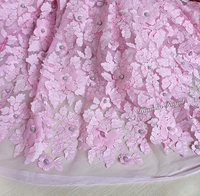 Exclusive Top Class French Lace African Lace Fabric Swiss Sewing Tulle Fabric With Silver Balls Appliques