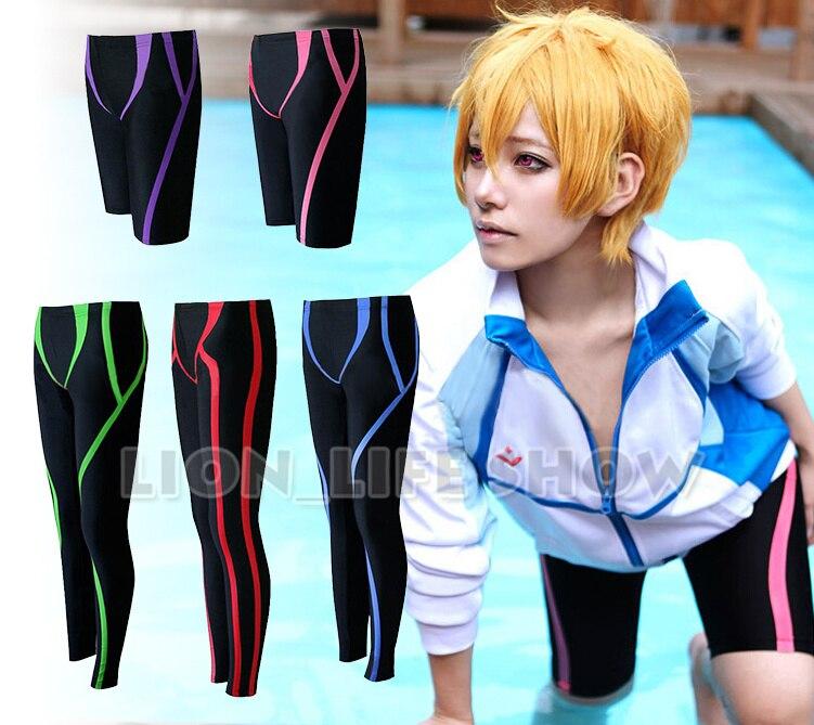 Biamoxer аниме бесплатно Iwatobi Плавание клуб Харука Макото Рин Hazuki Нагиса Rei Косплэй костюм Плавание ming шорты костюмы