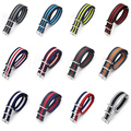 18mm 20mm 22mm Military Nylon Belt Strap Watch Band Wrist Watch Strap Watchband Wristwatch  Multicolour Strap  for Man Woman