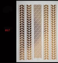 2015Body Art 2 Styles/Lot Temporary Tattoo Sex Product Body Paint Flash Tattoo Jewelry Metallic Gold Tattoos Tatuagem Taty Henna