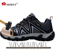 Free Shipping Mens Street Piercing Shoes Outsole Anti Breaking Steel Toe Climbing Shoes Large Sizes For