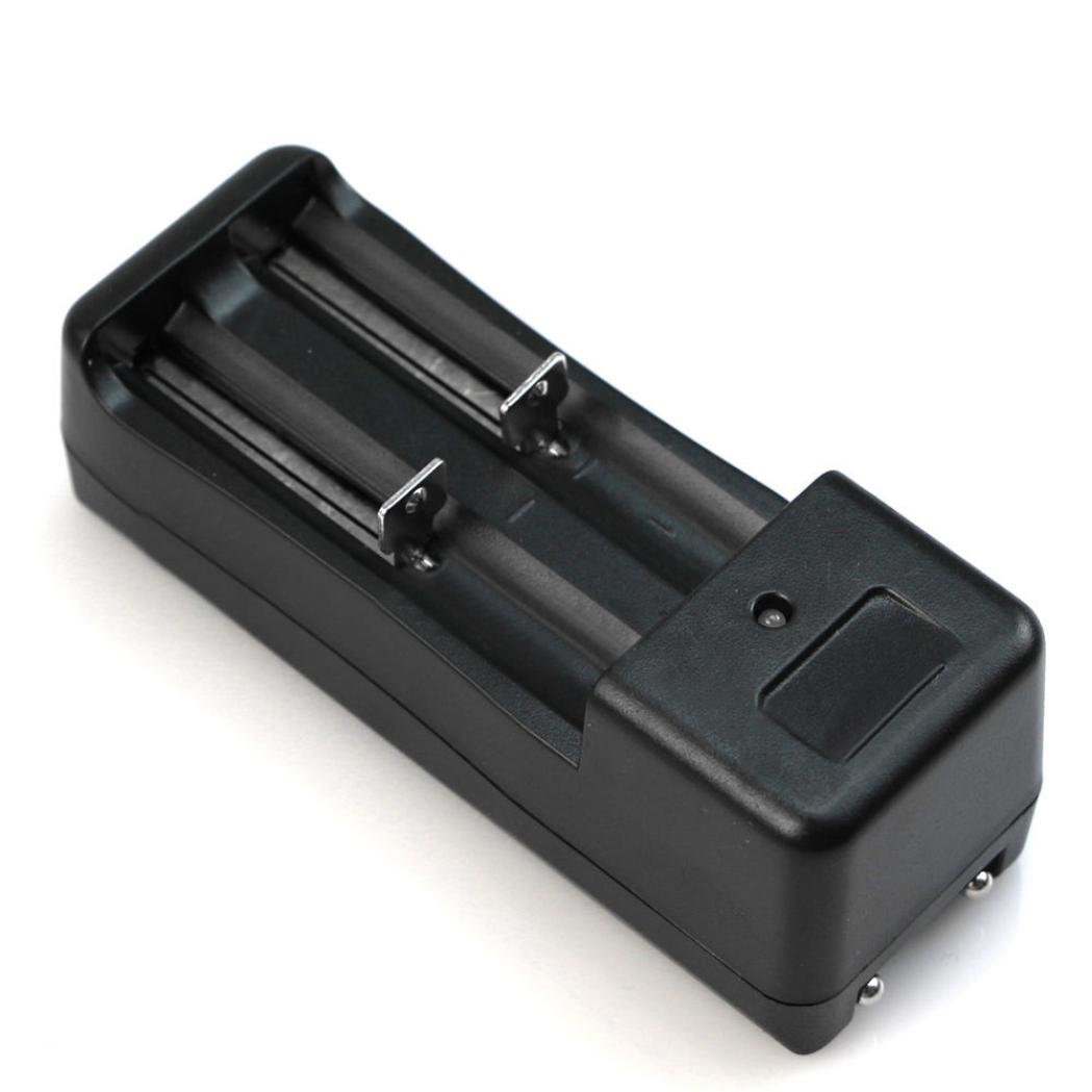 Dual Universal Battery Charger for 2 Battery Lithium Battery 18650 16340 Rechargeable 3.7V Li-ion Battery Black