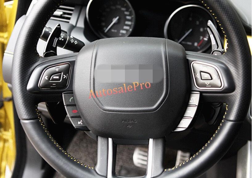 Black Decorative Steering Wheel Paddle Shift Extension Trim For Jaguar F-type XJ-type XF-type 2012-2015