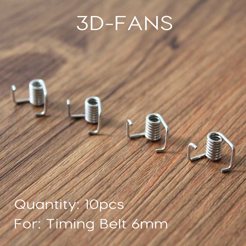 10Pcs/lot 3D Printer Belt Locking Torsion Spring Tension Belt Pressure With Strong Spring For 6mm / 10mm Belt Free Shipping telescopic stretching retractable shoe dryer for shoes deodorant warmers dehumidifier sterilization sterilizer shoe heater