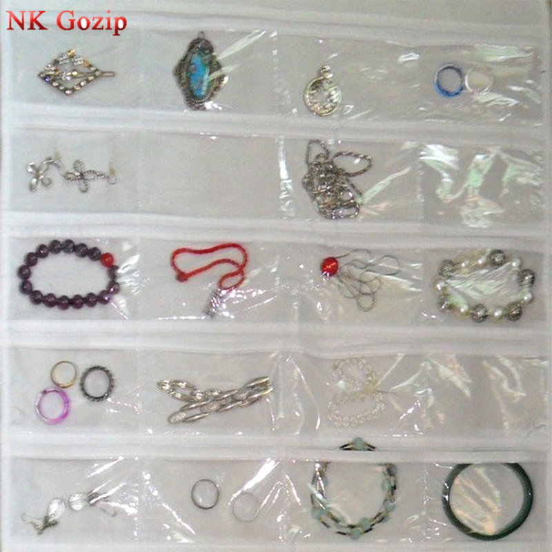 72 Pockets Real Set Organizadores Box Hanging Jewelry Organizer