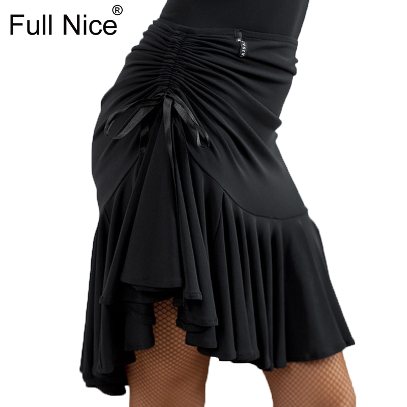 Women's Latin Salsa Tango Rumba Cha Cha Ballroom Dance Dress Skirt Black Purple Square Dance Latin Dancewear For Women/Girls