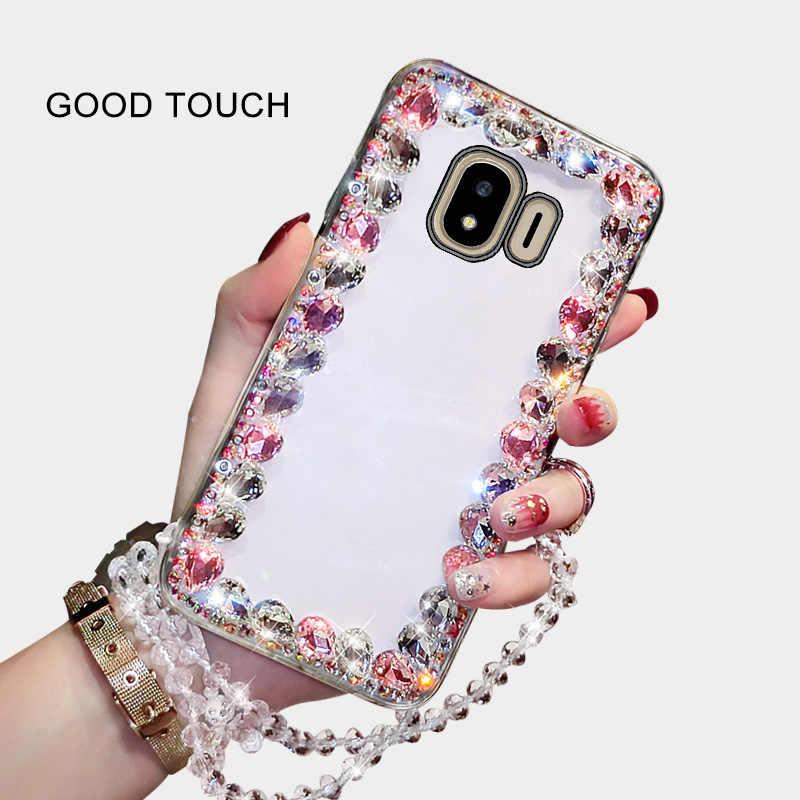 โทรศัพท์มือถือเชลล์สี่ด้านขนาดใหญ่แฟลชเพชรแฟชั่น Hard Shell สำหรับ Samsung Galaxy J4plus เปลือกป้องกัน Ultra - thin