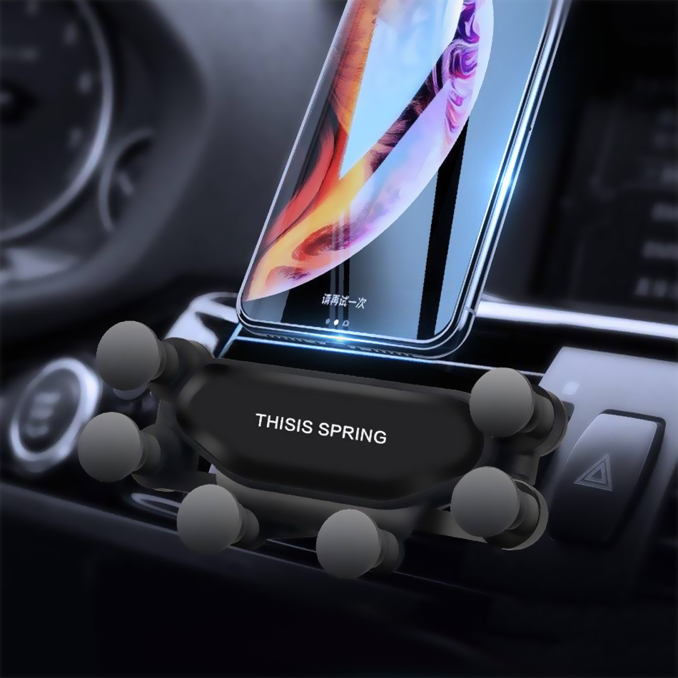 Gravity Car Bracket For Mobile Telephone Air Vent Silica Gel Universal Car Phone Holder For IPhone 7 Sumsang S9 Xiaomi HUAWEI LG