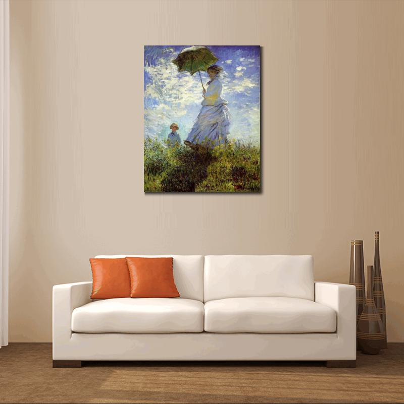 Klassische Claude Monet Leinwand Olgemalde Landschaft Bilder Der