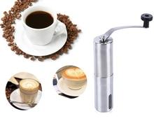 Tragbare Kaffeemühle Edelstahl Keramik Grat Handkurbel Manuelle Kaffeemühle für Kaffee Liebhaber Mini Hand Mühle für Zuhause