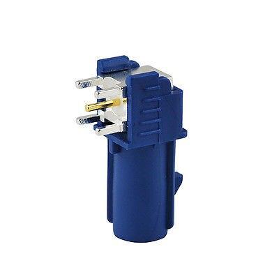 2 unids fakra C macho plug PCB montaje conector ra azul para GPS RF sistemas de comunicaciones