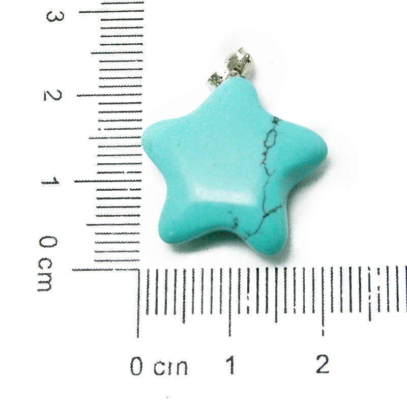 新しい石チャーム 20 ミリメートル盛り合わせクリスタル天然、合成スター宝石の石のファッションジュエリー Diy のネックレス BTB694
