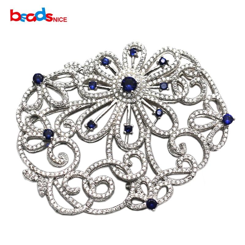 Beadsnice argent Sterling filigrane fermoir à la main Multi brin collier connecteur perles bijoux composants ID35285
