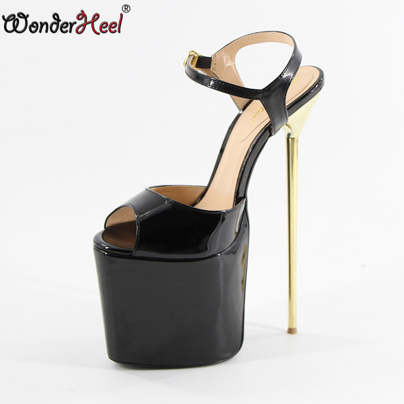Generous Summer New Ultra-thin 15 Cm High-heeled Platform Sandals Party Shoes Black Womens Shoes Catwalk Models Dance Shoes A Wide Selection Of Colours And Designs Office & School Supplies