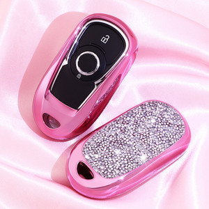Image 3 - Artificial Crystal key case cover Key case protective shell holder for for OPEL Astra Buick ENCORE ENVISION NEW LACROSS Girl
