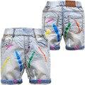 3595 shorts jeans macios crianças bebés meninos jeans menina calça casual capris verão shorts 30% centavos calças das meninas dos meninos