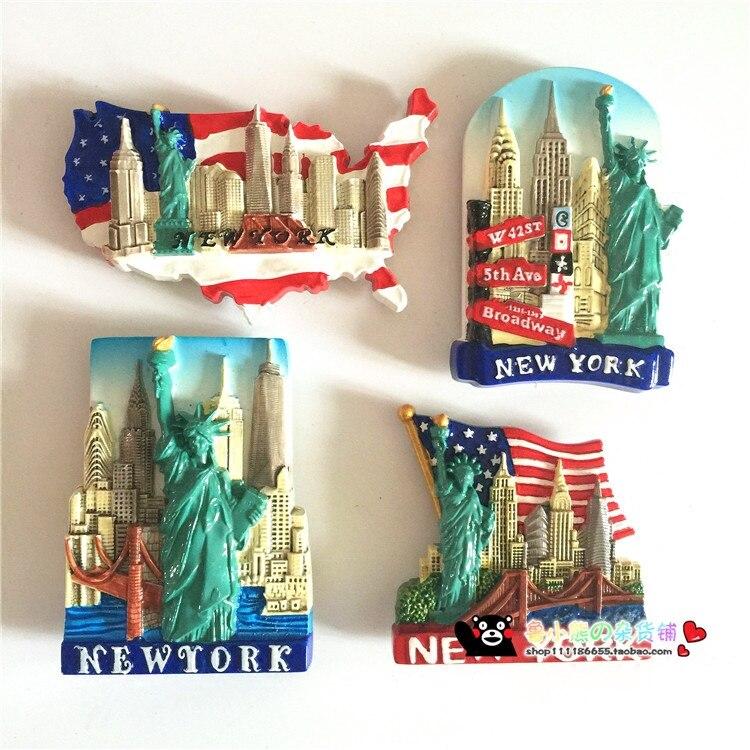 USA Reiseandenken 022 Souvenir NEW YORK Kühlschrankmagnet