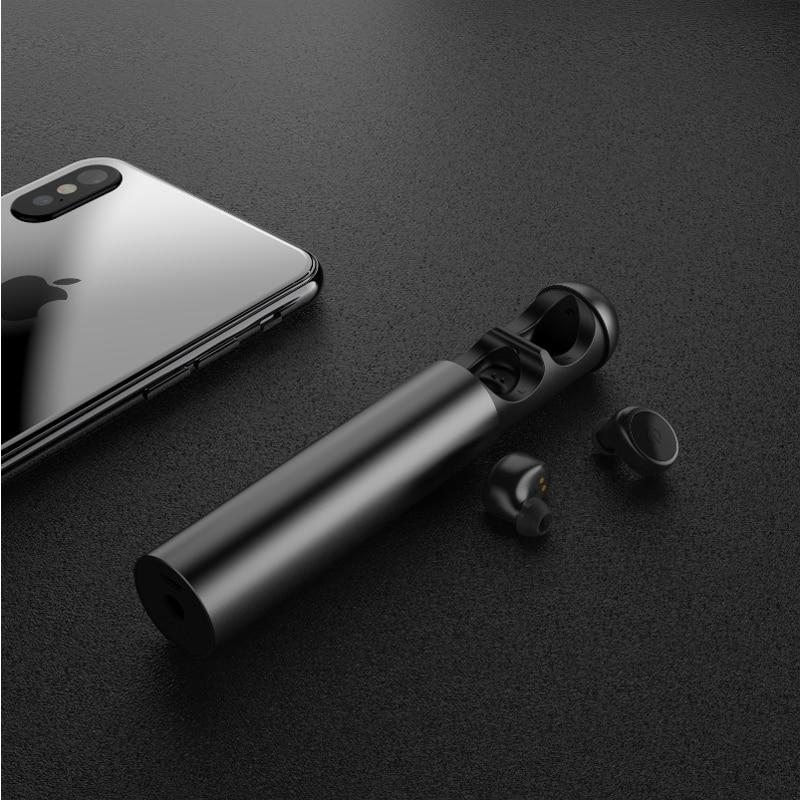 Wonstart Mini True Wireless Earbuds with Charging Case TWS Bluetooth Earphone Noise Cancelling Sport In Ear Bluetooth Earphones