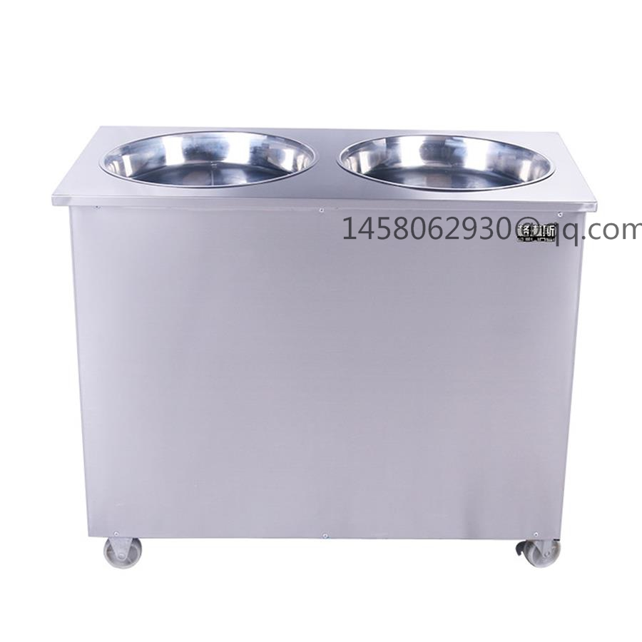 China double round  Pan Thailand Roll Fried Ice Cream Machine / Ice Cream Cold Plate / Fry Ice Cream Machine 2016 new double round pan fry ice cream roll machine 45cm 2800w luxurious intelligent double pan milk roller with r410a