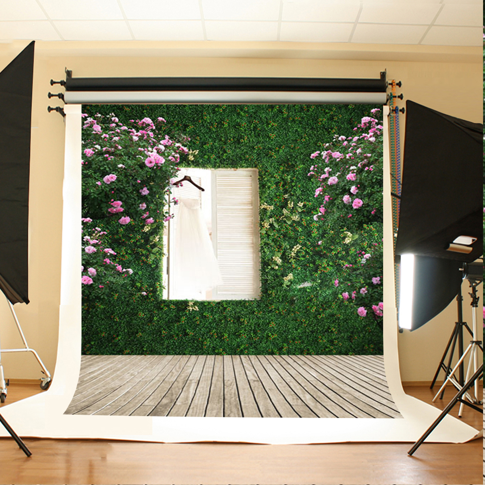 Wedding Photography Backdrops Pink Flower Window Computer Printing Background Rice White Wood Floor Backdrop Photo Studio 10ft 20ft romantic wedding backdrop f 894 fabric background idea wood floor digital photography backdrop for picture taking