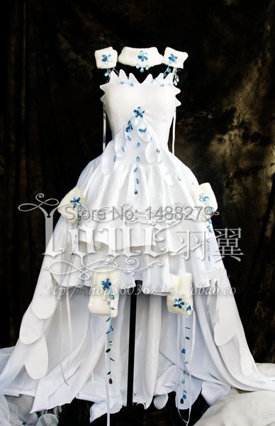 CLAMP Tsubasa Sakura Anime Chobits Chii Cosplay Costume White Gown Dress  Halloween Costumes for Women Custom Any Size 61f0232e7d5e