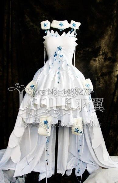CLAMP Tsubasa Sakura Costume Anime Chobits Chii Cosplay Costume White Gown Dress Halloween Party Costumes for Women Customize
