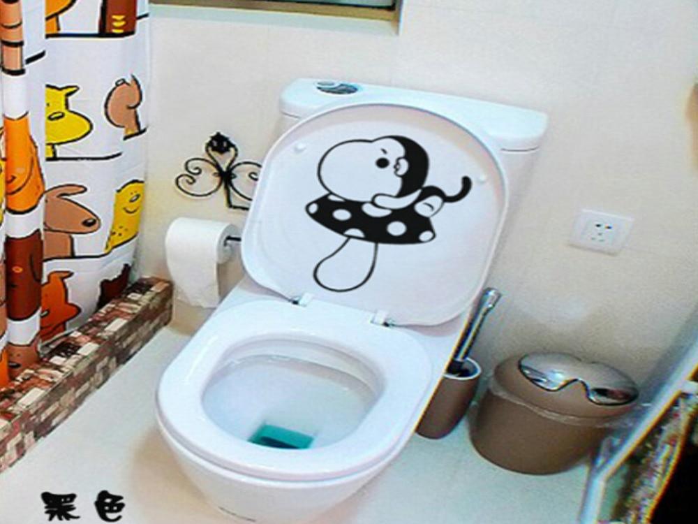 Aliexpress Com Buy 2pcs Bathroom Waterproof Toilet Decorative Paper Cute Cartoon Funny Toilet Stickers Home Decor