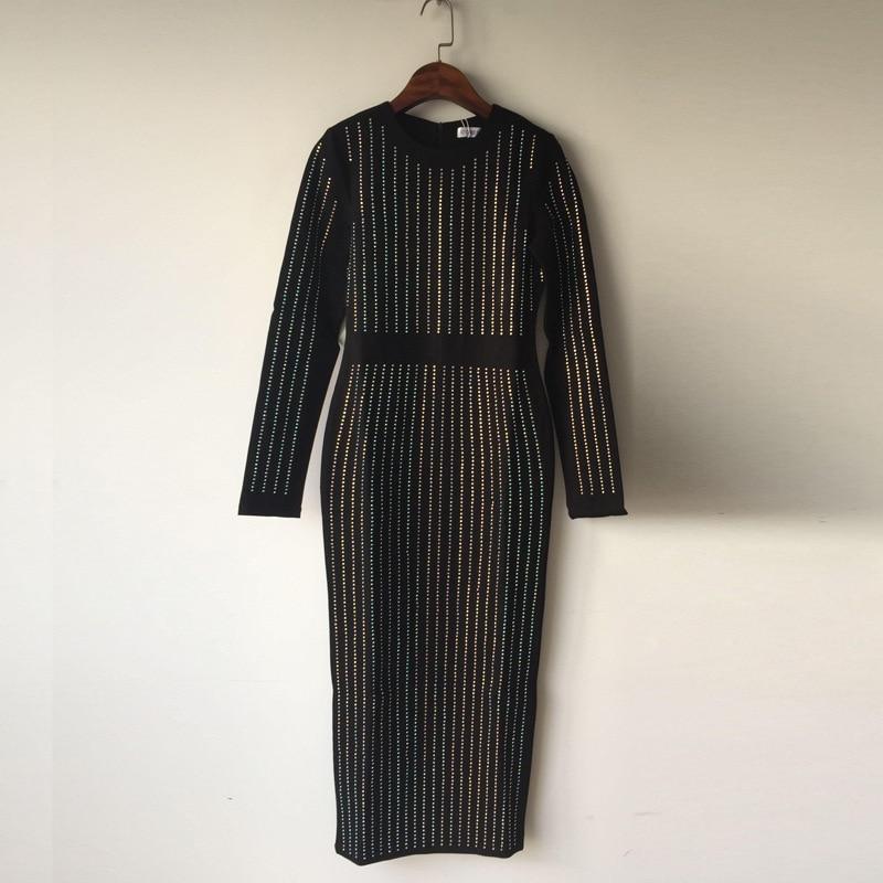 Nouveau Black Paquet Noir Femmes Western Style 2018 Robe Femme Hanche Cou Longue Sexy Droite Vgh O Diamants wqU4xRC1Sg