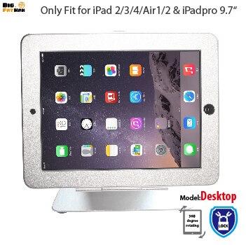 Para ipad 2/3/4 air pro 9.7 anti-roubo na tabela Stand Gabinete Quiosque de Segurança com Bloqueio Gabinete do monitor de Desktop titular tablet
