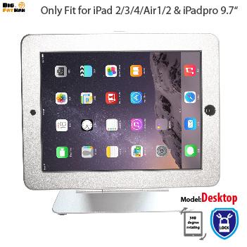 Prix pour Pour ipad 2/3/4 air Pro 9.7 Anti-vol sur table Stand Boîtier de Sécurité avec Serrure Kiosque De Bureau Boîtier d'affichage tablet titulaire